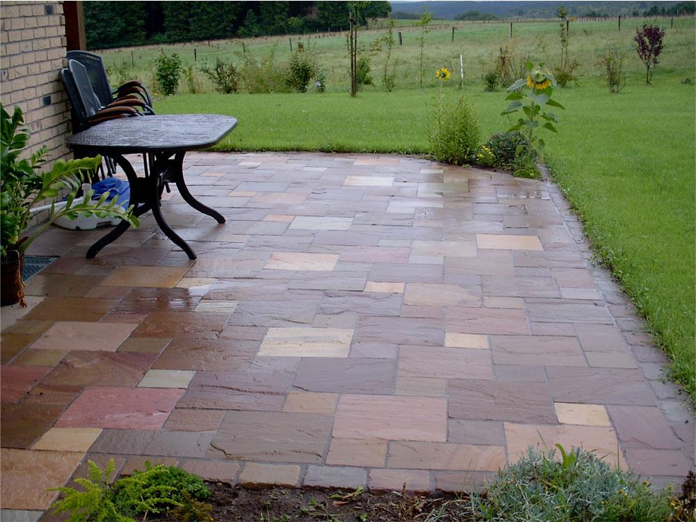 Terrassenbau - Splittbett für terrasse